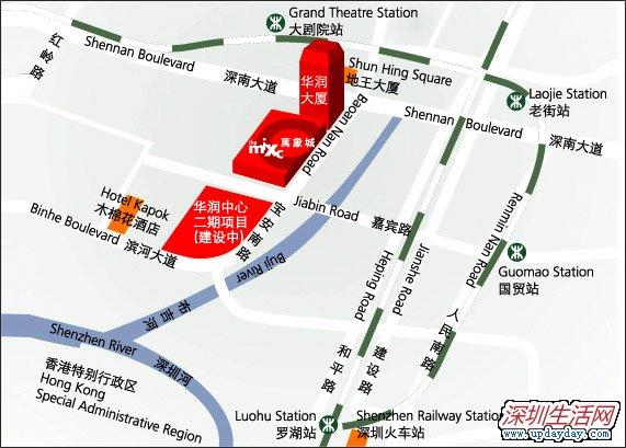 万象城地址地图