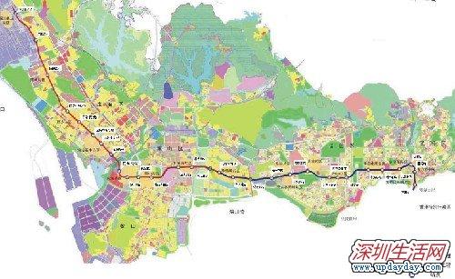 深圳地铁1号线线路图及站点介绍图片