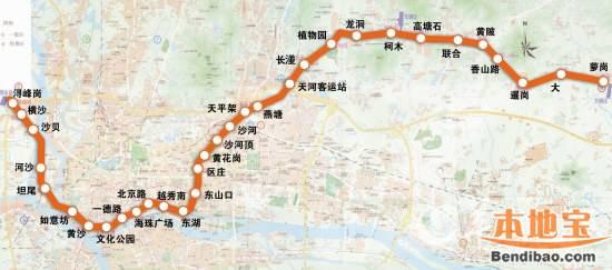 广州地铁6号线线路图(一期)